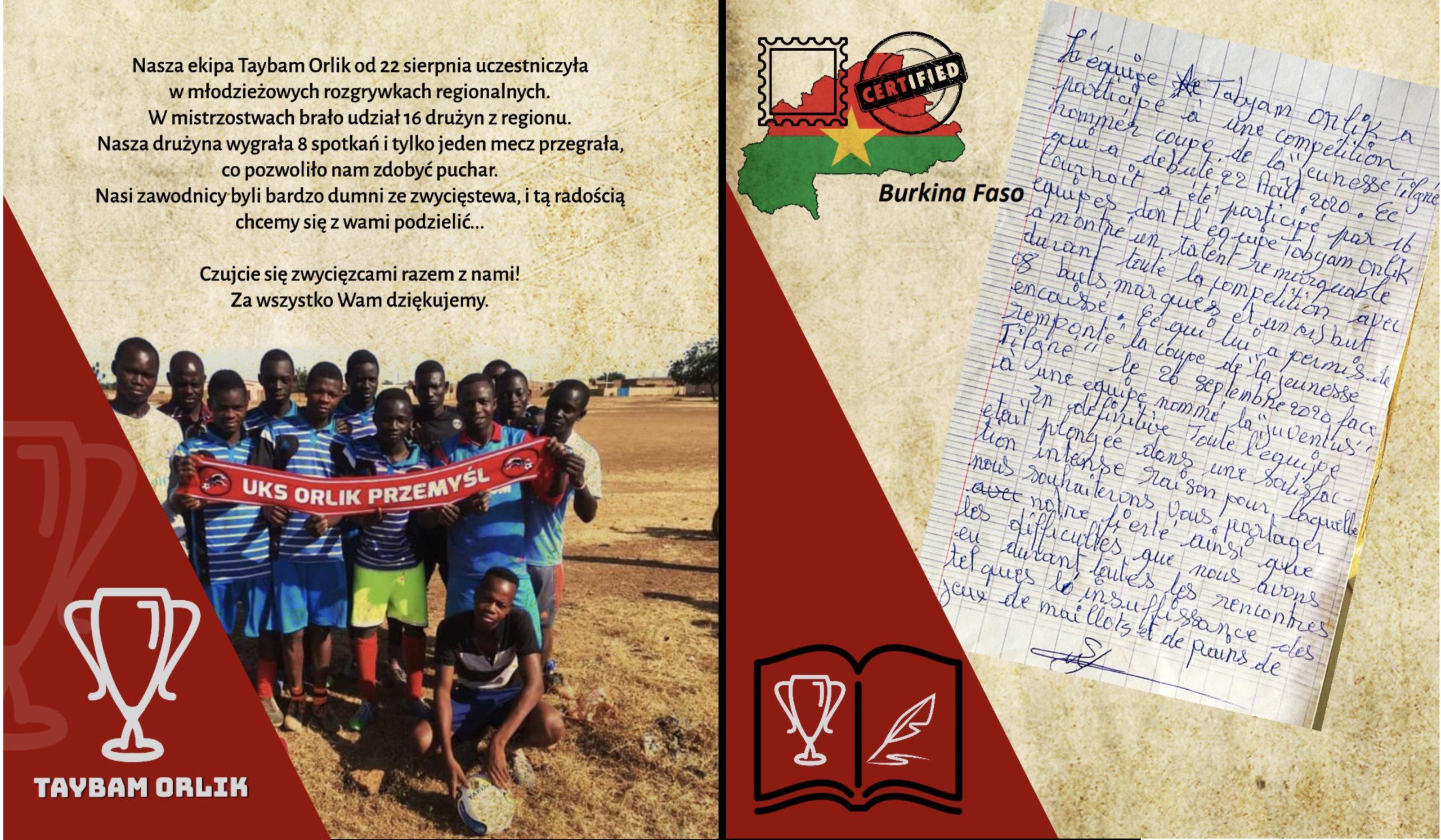 Nasz klub partnerski w Burkina Fasso